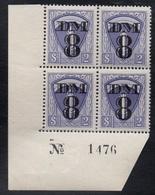 PERMIS MILITAIRES - OCCUPATION FRANCAISE EN ALLEMAGNE / 1950 BLOC DE 4 ** # TR23  / COTE +100.00 € (ref 7539) - Fiscali