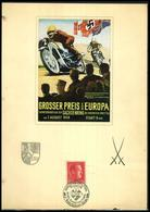1938 German Reich. Gran Prix Of Europe For Motorcycle Race / Poster - Alemania