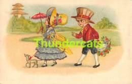 CPA CHROMOLITHO ENFANT CHIEN OH BERLIN DRAWN CHILDREN CARD DOG - Dessins D'enfants