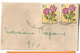 Ruanda-Urundi Airmail 1953 Dissotis 10 Belgian Centime Postal History Cover Sent To Pakistan. - Ruanda-Urundi
