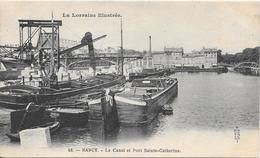 54 NANCY - Le Canal Et Port Sainte Catherine - Péniches - Nancy
