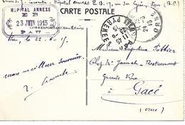 64- Cachet Hôpital Annexe E  B  (Edmond Blanc) à Pau  Sur CP En 1915- Cachet Rare - Storia Postale