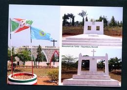 BURUNDI - Bujumbura Unity Monument Multi View Unused Postcard As Scans - Burundi