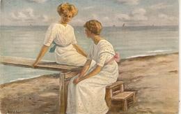 """Arvid Aae.Ladies Sommeridyl"" Fine Painting, Vintage Danish Postcard - Mujeres"