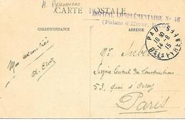 64- Cachet Hôpital Comp N°46 -Palais D'Hiver à Pau Sur CP De Lourdes En 1915 - Marcofilie (Brieven)