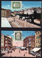 FIUME (Yougoslavie) Occupation Italienne: Lot De 2 Belles Cartes Oblitérées En 1921 - 1919-1929 Royaume Des Serbes, Croates & Slovènes