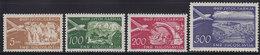 Yugoslavia 1951 Definitive - Airmail, MNH (**) Michel 689-692 - Nuevos