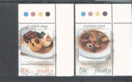 CEPT Gastronomie Malta 1398 - 1399 MNH ** Postfrisch - Europa-CEPT