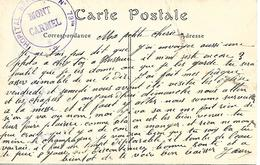 64- Cachet Hôpital Bénévole N°79 Bis -Mont-Carmel à Bayonne Sur CP En 14/18-cachet Rare - Oorlog 1914-18