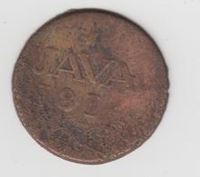 British India   East India Compagnie   1/2 Stuiver  1814   JAVA   (4596) - India