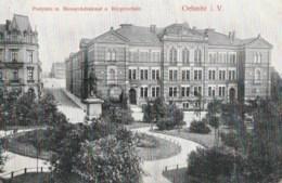 Germany - Oelsnitz In Vogtland - Postplatz - Bismarckdenkmal - Burgerschule - Oelsnitz I. Vogtl.