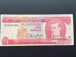 BARBADOS P29 1 DOLLAR 1973 VG - Barbados
