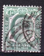 Cape Of Good Hope Edward VII 1902 Half Penny Stamp. - South Africa (...-1961)