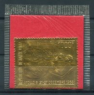 RC 14890 HAUTE VOLTA TIMBRE EN OR - GOLD STAMP ESPACE SPACE DANS SA POCHETTE D'ORIGINE NEUF ** MNH TB - Obervolta (1958-1984)