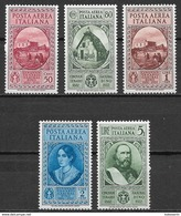 Italia - Italy 1932 Mi. Nr.401-405 - 1900-44 Victor Emmanuel III