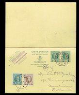 CP 78 + 194 + 203 De Cureghem 27 I 1927 Vers Amsterdam ( Hollande ) Réponse Non écrite - Entiers Postaux