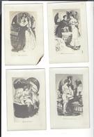 """"""" Enfin Seuls """" 7  Cartes Photos De Gravures + 2 Photos Nus  - EROTISME - Dibujos"""