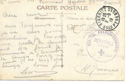 64- Cachet Hôpital Bénévole N°87 Bis-Franco-Espagnol Sur CP En 1919 - Guerre De 1914-18