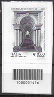ITALIA - 2011 - CONSIGLIO DI STATO - € 0,60 - NUOVO  - CODICE A BARRE IN BASSO - 1946-.. République