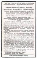 Dp . Burgemeester Te Brecht: Van Ostaeyen Henri. ° Brecht 1890 † Antwerpen 1944  (2 Scan's) - Godsdienst & Esoterisme