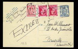 CP 123 I + 423 + 528 ( Paire ) En Exprès De Tournai 13 XI 1941 +> Bruxelles - Entiers Postaux