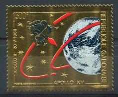 RC 14893 GABON TIMBRE EN OR - GOLD STAMP APOLLO XV ESPACE SPACE NEUF ** MNH TB - Gabun (1960-...)