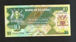 UGANDA - BANK Of UGANDA - 10 SHILLINGS (1987) - Uganda
