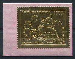 RC 14896 GABON TIMBRE EN ARGENT / OR - SILVER  GOLD STAMP APOLLO X1 ESPACE SPACE NEUF ** MNH TB - Gabun (1960-...)