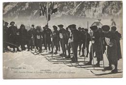 CPA CHASSEURS ALPINS - Sports D'hiver - Le Ski - Départ D'une Course Militaire - Regiments