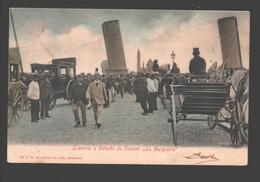 Oostende - L'arrivée à Ostende Du Steamer 'La Marguerite' - Enkele Rug - Gekleurd - Stoomboot / Bateau à Vapeur - Oostende