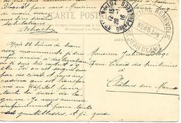 64- Cachet Hôpital Bénévole N°86 Bis De Saint Jean De Luz Sur CP En 1916- (texte:Hôpital Du Casino) - Guerre De 1914-18