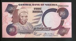 NIGERIA - CENTRAL BANK Of NIGERIA - 5 NAIRA - Nigeria