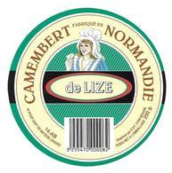 ETIQUETTE De FROMAGE..CAMEMBERT Fabriqué En NORMANDIE ( Calvados 14-AB).. De Lize - Fromage