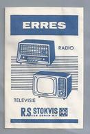 Suikerzakje.- STOKVIS En ZONEN N.V. ERRES RADIO TELEVISIE. Sugar Bag. Embalage De Sucre. Zucchero. Zucker - Suiker