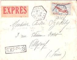 Dordogne :- CHENAUD Dateur E7 Sur Lettre Par EXPRESS Pour VILLEJUIF - Marcophilie (Lettres)