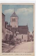 Côte-d'Or - Chenove - L'église Et Rue Du Onze-Novembre - Chenove