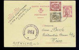 CP 126 I + 420 + 715 De Sclessin 20.5.47 => Vienne ( Autriche ) Censure - Entiers Postaux