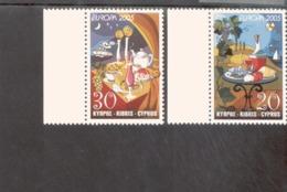 CEPT Gastronomie Zypern 1056 - 1057 A MNH ** Postfrisch Neuf - Europa-CEPT