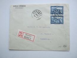 1930 , Einschreiben Nach Luxemburg - Norwegen