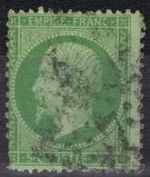 N°20 Etoile 7 Bien Frappe Correcte, Quelques Dents Courtes - 1862 Napoléon III