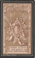 Baronnes Maria Josepha Benedicta Carolina Ghislena Gillès De Pélichy-sint Andries 1876-algiers 1899 - Devotieprenten