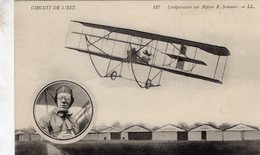 Circuit De L'Est  -  Aviateur Lindpaintner Sur Biplan R.Sommer  - CPA - Flieger