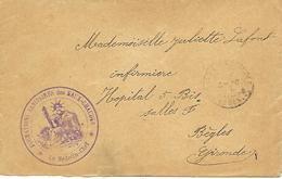 64- Cachet Hôpital-Formation Sanitaire Des Eaux-Chaudes Sur Lettre En 14/18- Cachet Très Rare - Oorlog 1914-18
