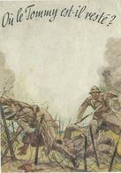 """TRES RARE . Tract Allemand ORIGINAL 1939-1940 """"Où Le Tommy Est-il Resté ?"""" - 1939-45"""