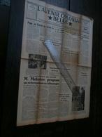 L'Avenir Colonial Belge 35 Du 4 Février 1954 : Congo, Molotov, AMI, Niari, - Journaux - Quotidiens