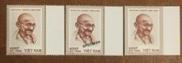 03 Viet Nam Vietnam MNH Perf, Imperf & Specimen Stamps 2019 : 150th Birth Ann.of Mahatma Gandhi (Ms1115) - Sent By FDC - Vietnam