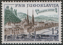 Yugoslavia 1954 Philatelic Exhibition JUFIZ II In Ljubljana, MNH (**) Michel 750 - 1945-1992 República Federal Socialista De Yugoslavia