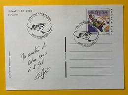 9621 -  Entier Postal Junaphilex 2000 St.Gallen 21-25.06.2000 - Postwaardestukken
