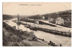 22 COTES D'ARMOR - PONTRIEUX La Gare Et Les Quais - Pontrieux