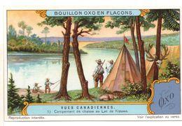 "S1222- CHROMO LIEBIG - 1929 -  "" VUES CANADIENNES "" : 5. CAMPEMENT DE CHASSE - Liebig"
